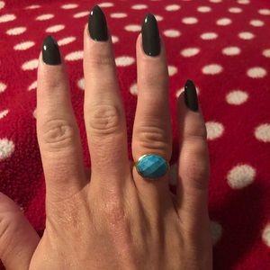 Stella & Dot Mary Margaret Turquoise Ring